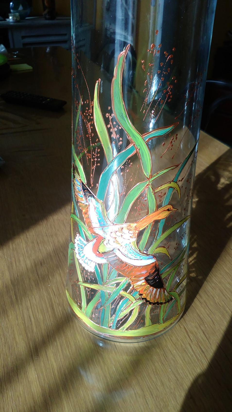 vase decor canard