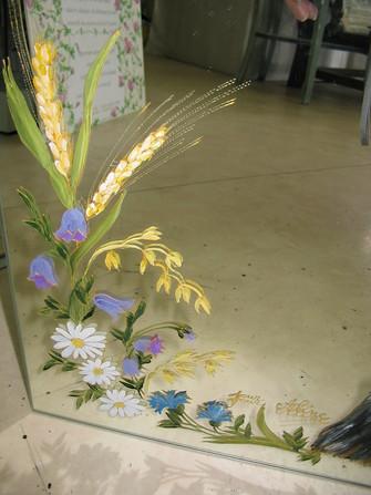 miroir dcor fleurs des champs