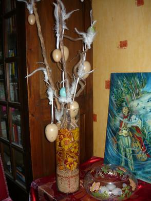 vase decor floral orange