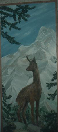 peinture décor chamois montagne.JPG
