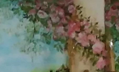 """peinture décor mural """" côté romantique"""""""