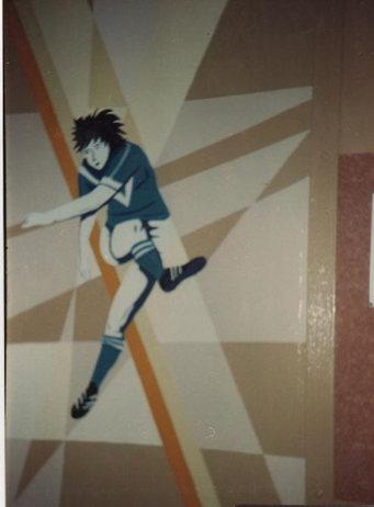peinture murale local football La Couronne