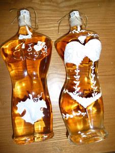 bouteilles decor mariage