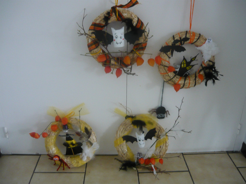 ateliers couronnes d'Halloween