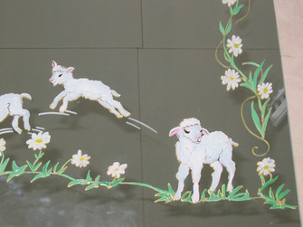 miroir décor moutons