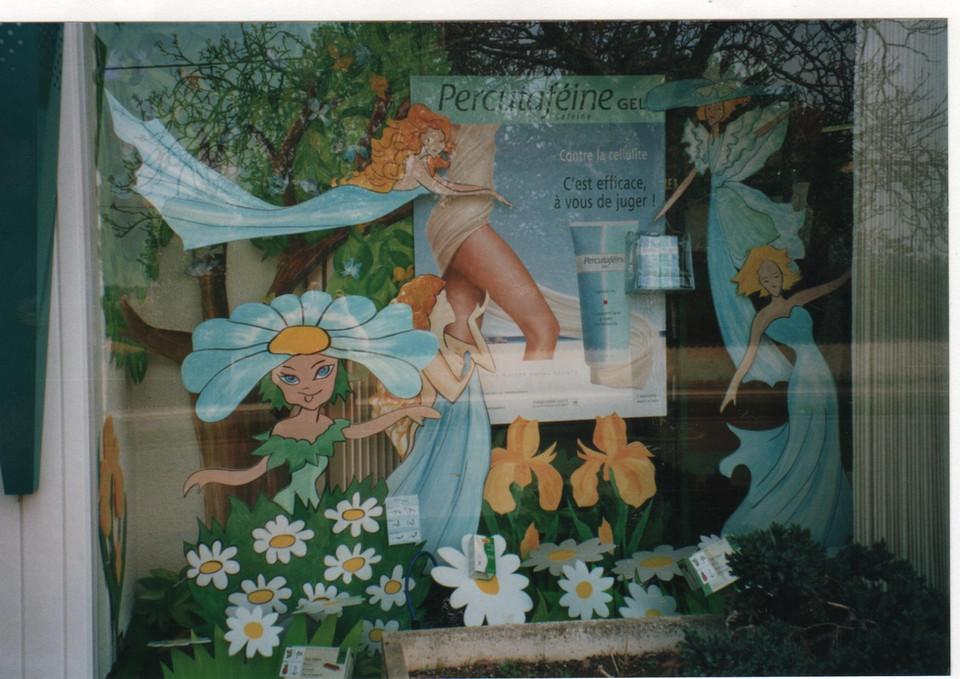 création d'un décor de vitrine printemps