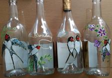 bouteilles décorées main Roussille