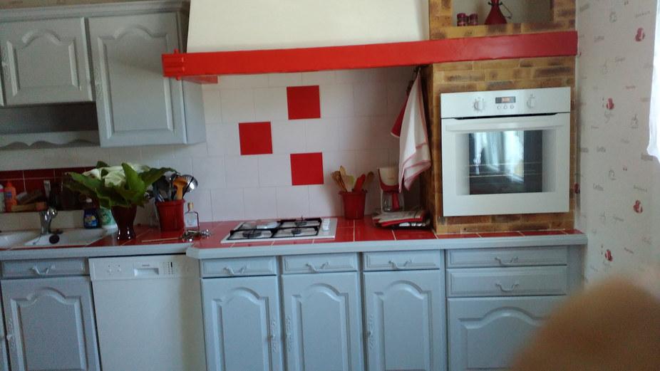meubles de cuisine peints