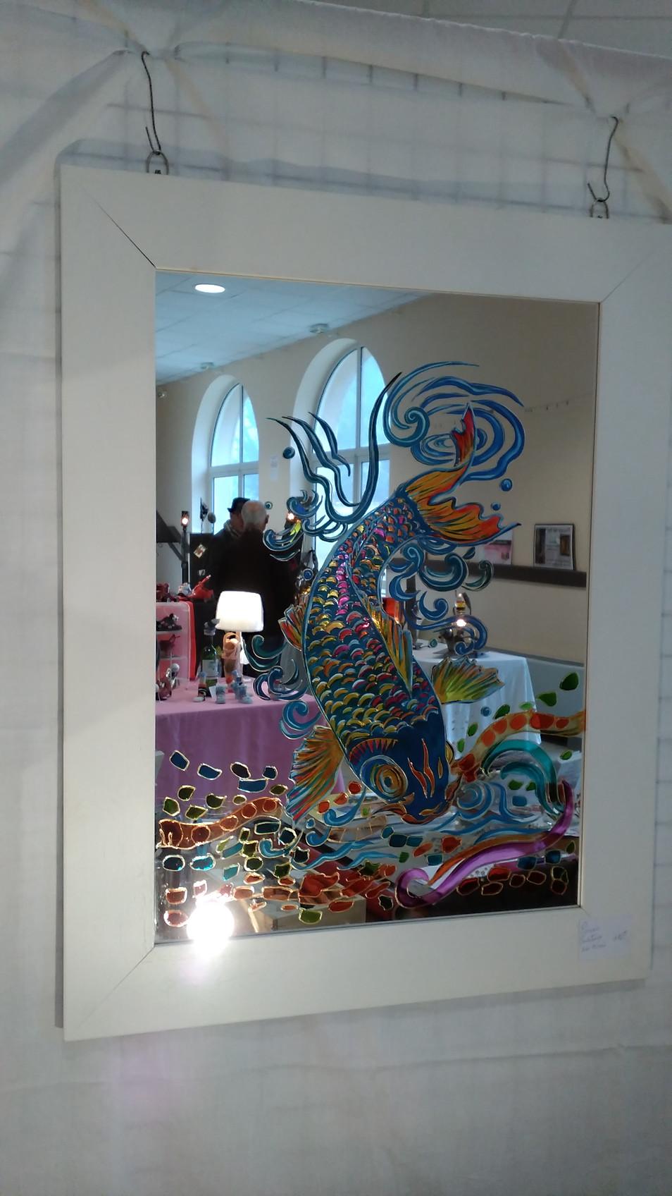 poisson sur miroir