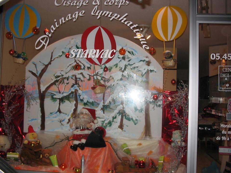création de décor de vitrine Noël
