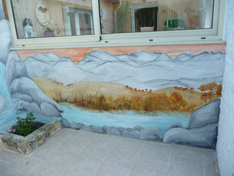 peinture murale Ruelle