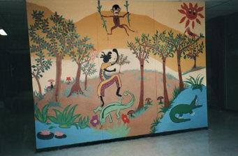 peinture murale collège de Chasseneuil