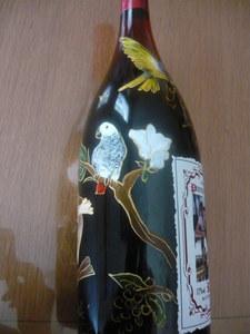 bouteille décor gris du Gabon