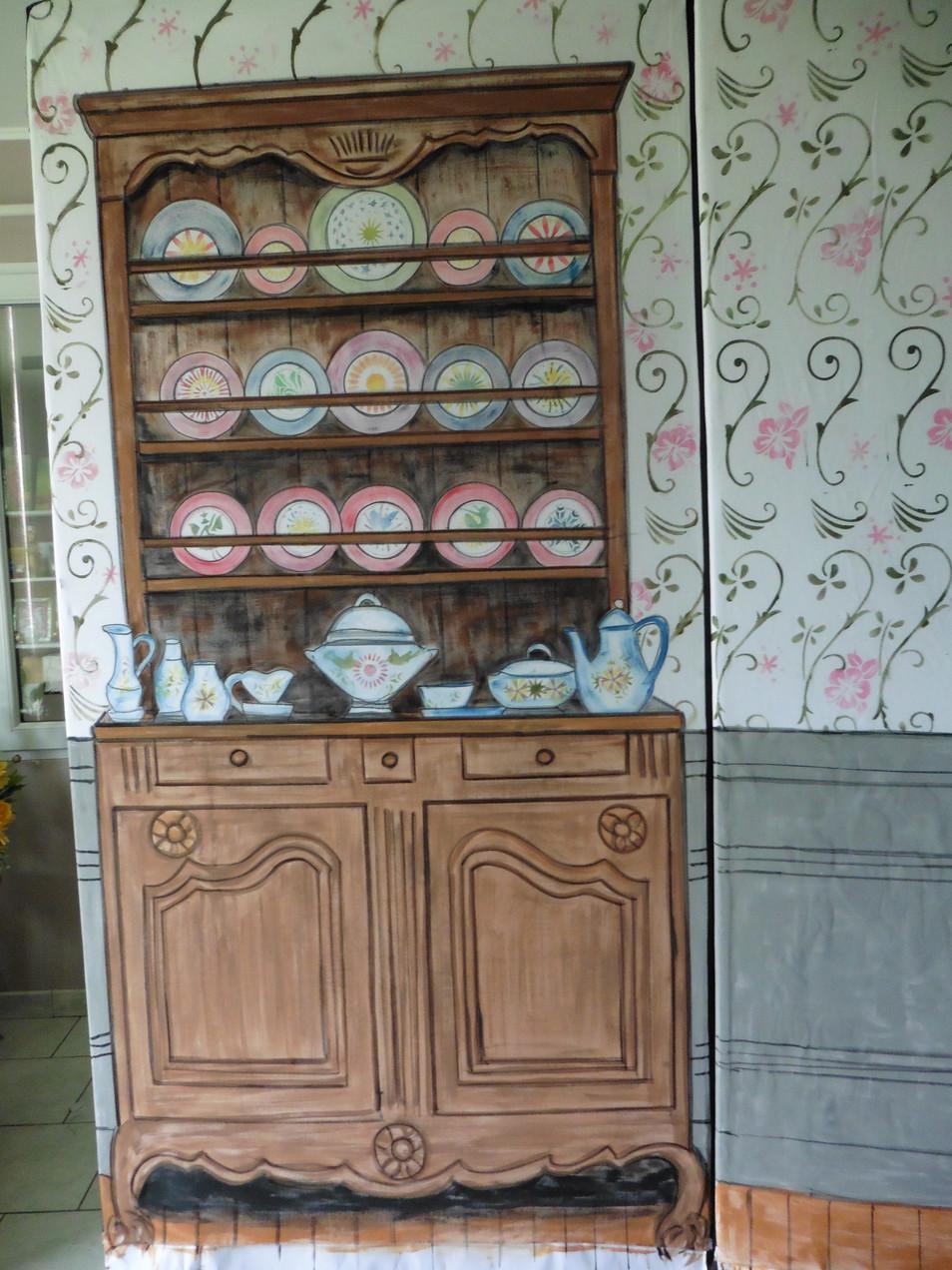 vaisselier peint sur toile
