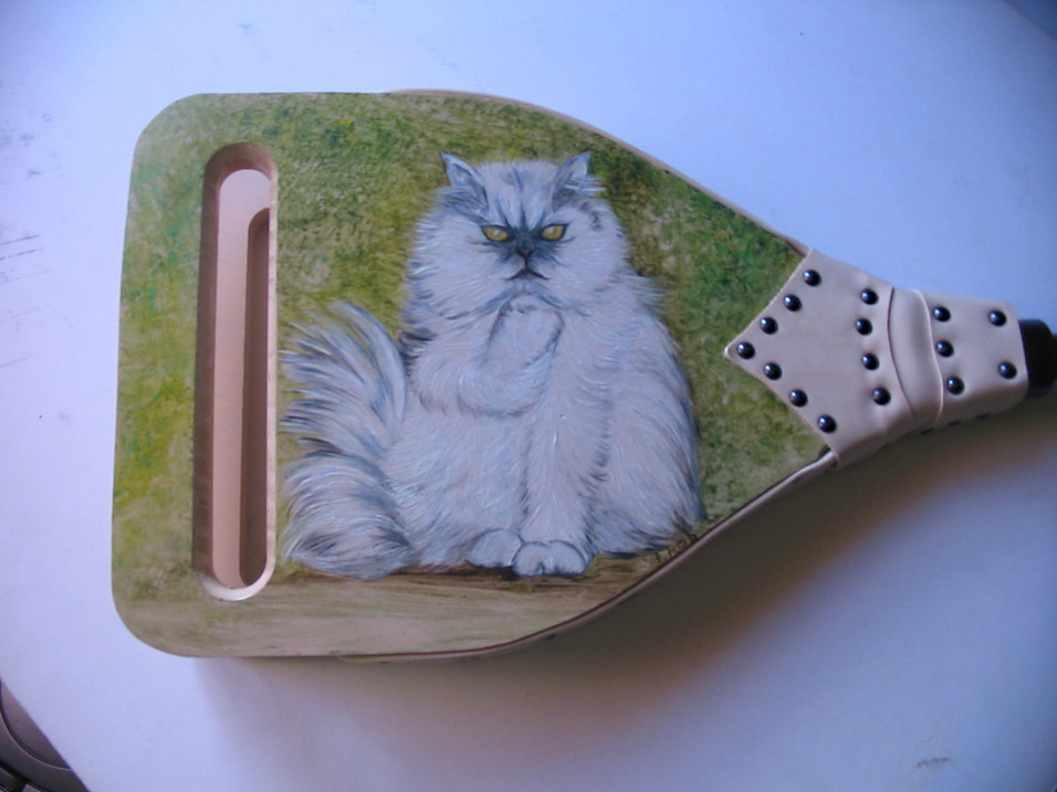 motif chat blanc