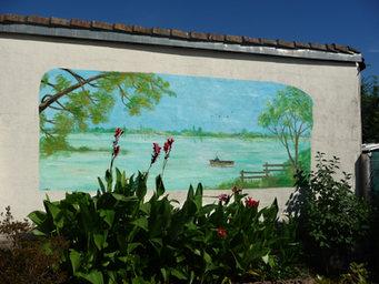 peinture murale la pêche Gond-Pontouvre