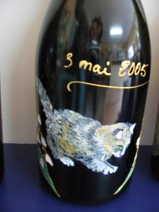 chat sur bouteille