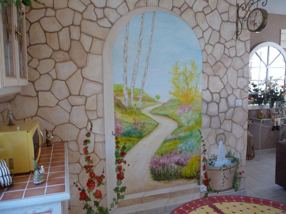 peinture murale dans séjour Angoulême