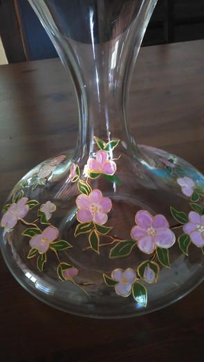 carafe fleurs de pommier