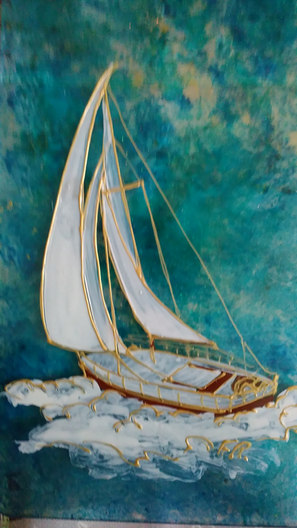 deco peinte bateau