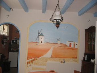 peinture murale salle à manger Ruelle