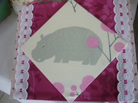tableau cartonnage hippo