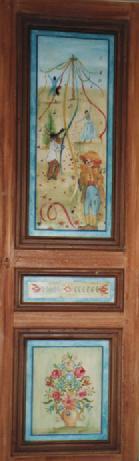 porte de placard ancienne création de motifs
