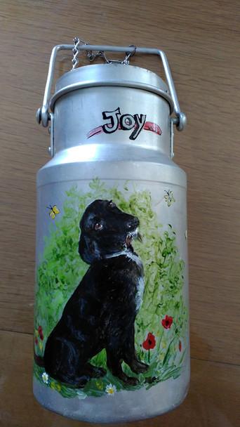 chien sur pot au lait