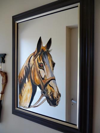 miroir décor cheval