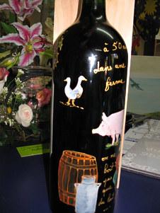 bouteille décor ferme