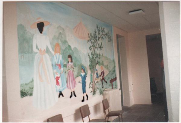 mur peint hopital de Chateauneuf