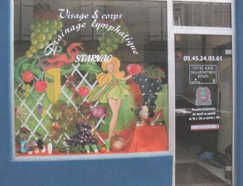 automne création décor de vitrine
