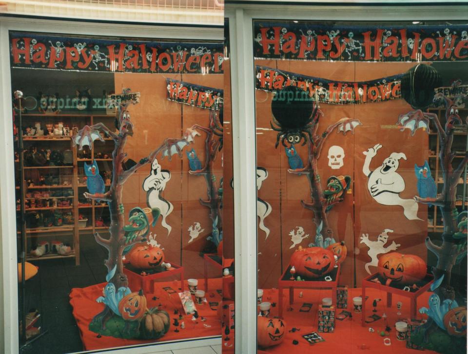 halloween création décor de vitri