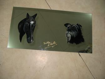 miroir cheval et chien