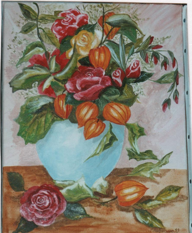 1999 bouquet roses et amour en cage
