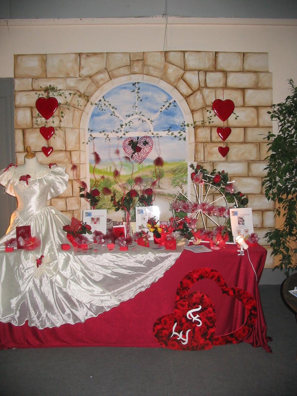 fond de stand salon du mariage