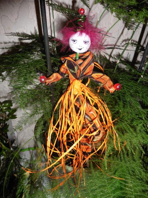 création belle d'halloween pour plante