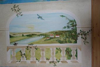 peinture murale 120x160cm