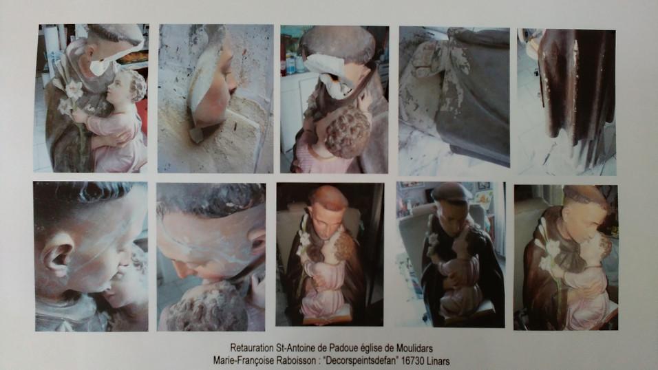 st-Antoine de Padoue restauration statue