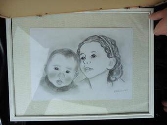 portrait crayon et fusain