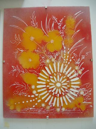 création sur verre 1