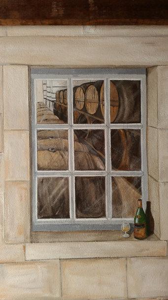 fausse fenêtre peinte en trompe l'oeil Linars