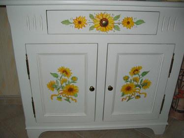 meuble aux tournesols