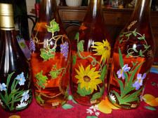 décor floraux magnum pineau personnalisé