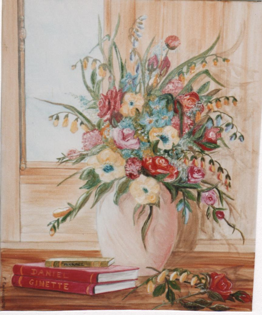 2000 bouquet devant la fenêtre