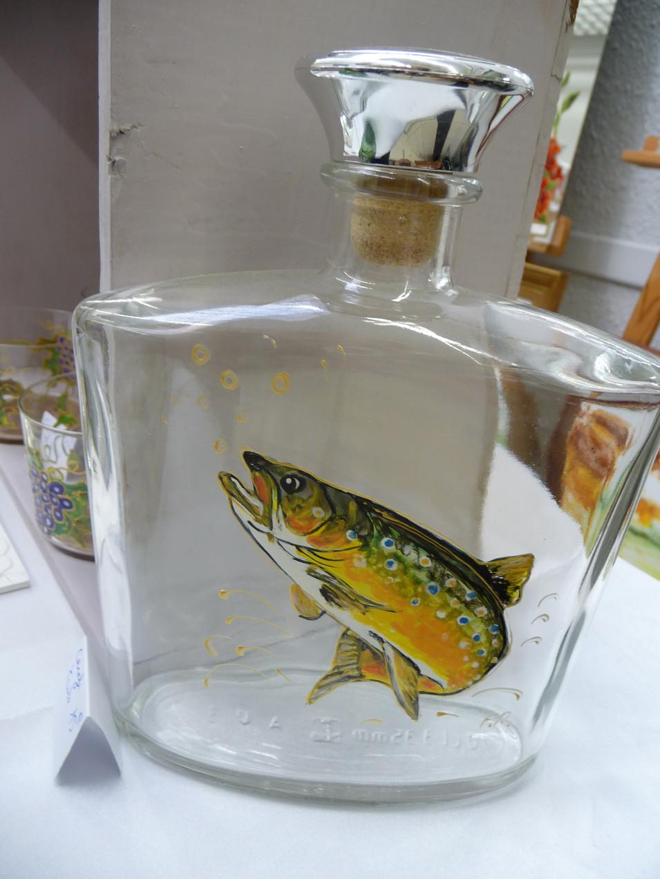 truite sur verre
