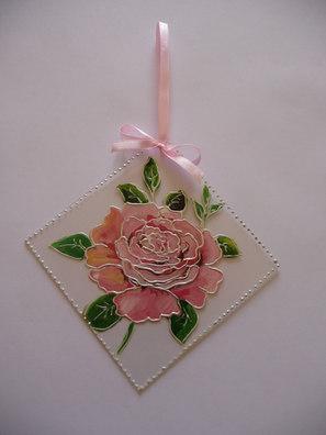rose peinte