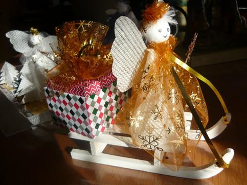 traineau ange  Noël