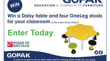 Enter To Win a Daisy Table & 4 OneLeg Stools From Gopak