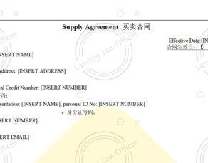 China Supply Agreement Template